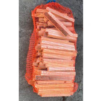 mooi Aanmaakhout in oranje netzak | 45 liter